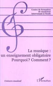 La Musique Un Enseignement Obligatoire Pourquoi ? Comment - Intérieur - Format classique