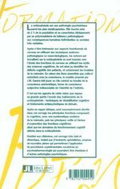 Schizophrenie et cognition - 4ème de couverture - Format classique