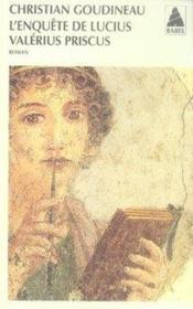 L'enquête de lucius valerius priscus - Couverture - Format classique