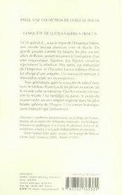 L'enquête de lucius valerius priscus - 4ème de couverture - Format classique