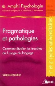 Pragmatique et pathologies - Couverture - Format classique