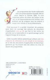 Qu'apprend-on a l'ecole maternelle ? 2005-2006, les programmes (édition 2005/2006) - 4ème de couverture - Format classique
