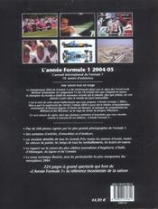 Annee formule 1 2004-2005 (édition 2004/2005) - 4ème de couverture - Format classique