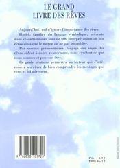 Le grand livre des rêves - 4ème de couverture - Format classique