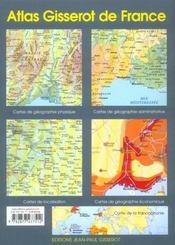 Atlas gisserot de france - 4ème de couverture - Format classique