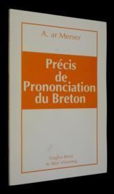Precis De Prononciation Du Breton - Couverture - Format classique