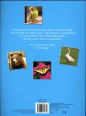 J'aime colorier et coller des autocollants d'animaux - 4ème de couverture - Format classique