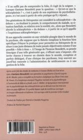 Psychothérapie de la schizophrénie ; existence et transfert - 4ème de couverture - Format classique