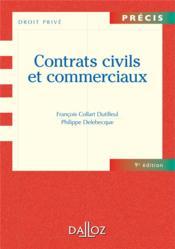 Contrats civils et commerciaux (9e édition) - Couverture - Format classique