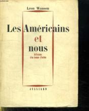Les Americains Et Nous. - Couverture - Format classique