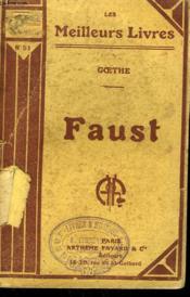 Faust. Collection : Les Meilleurs Livres N° 51. - Couverture - Format classique
