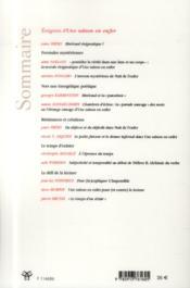 Revue des sciences humaines, n 313/janvier - mars 2014 - enigmes d'une saison en enfer - 4ème de couverture - Format classique
