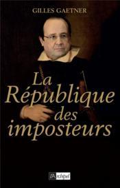 La République des imposteurs - Couverture - Format classique