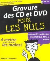 La Gravure Des Cd Et Des Dvd - Intérieur - Format classique