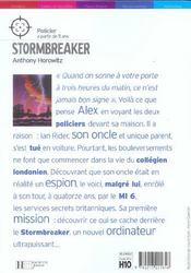 Alex Rider T.1 ; stormbreaker - 4ème de couverture - Format classique