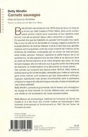 Carnets sauvages - 4ème de couverture - Format classique