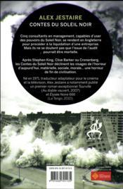 Contes du soleil noir : audit - 4ème de couverture - Format classique