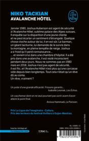 Avalanche hôtel - 4ème de couverture - Format classique