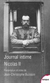 Journal intime de Nicolas II - Couverture - Format classique