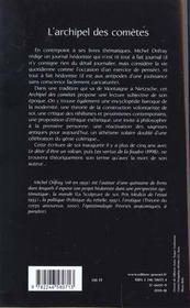 L'archipel des comètes - 4ème de couverture - Format classique