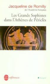 Les grands sophistes dans l'Athènes de Périclès - Intérieur - Format classique