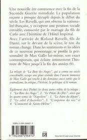 Baie Des Anges T.3 Promenades Des Anglais - 4ème de couverture - Format classique