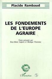 Les Fondements De L'Europe Agraire - Intérieur - Format classique