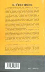 Esthetique Musicale ; La Recherche Des Dieux Enfuis - 4ème de couverture - Format classique