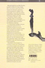 Bohumil hrabal - 4ème de couverture - Format classique