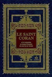Coran / Bilingue - Cartonne - Luxe - Couverture - Format classique