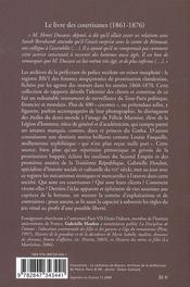 Le livre des courtisanes ; archives secrètes de la police des moeurs - 4ème de couverture - Format classique