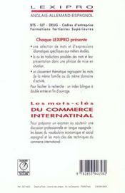 LEXIPRO ; les mots clés du commerce international - 4ème de couverture - Format classique