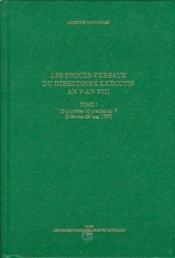 Procés verbaux direct executif ; an V an VIII - Couverture - Format classique