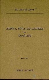Alpha, beta et caetera - Couverture - Format classique