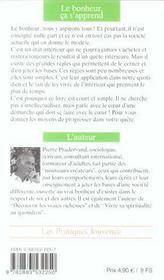 Bonheur, Ca S'Apprend (Le) N.57 - 4ème de couverture - Format classique
