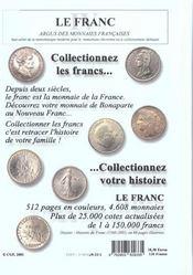 Franc Iv, Argus Des Monnaies Francaises 1795-2001 - 4ème de couverture - Format classique