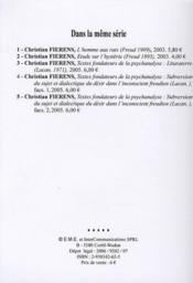 Textes fondateurs de la psychanalyse ; lituraterre (Lacan 1971) - 4ème de couverture - Format classique