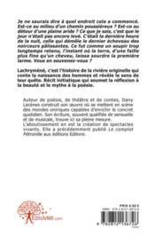 Lachryméné - 4ème de couverture - Format classique