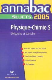 Annabac Sujets (édition 2005) - Intérieur - Format classique