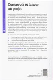 Concevoir et lancer un projet ; de l'idée au succès sans business plan (2e édition) - 4ème de couverture - Format classique