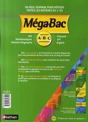 Toutes les matières ; 1ère ES - 4ème de couverture - Format classique