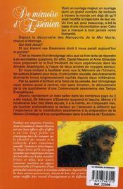 L'autre visage de Jésus t.1 ; de mémoire d'essénien - 4ème de couverture - Format classique