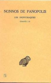 Dionysiaques t.1 ; ch 1-2 - Couverture - Format classique