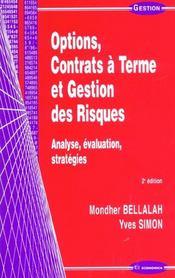 Options, Contrats A Terme Et Gestion Des Risques ; 2e Edition - Intérieur - Format classique