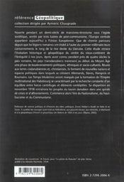 Histoire Et Geopolitique De L'Europe Centrale De L'Antiquite A L'Union Europeenne - 4ème de couverture - Format classique