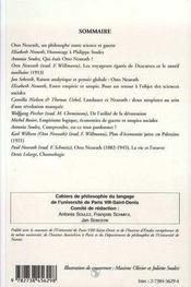 Otto Neurath, Un Philisophe Entre Science Et Guerre - 4ème de couverture - Format classique