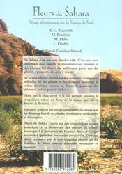 Fleurs du sahara ; voyage ethnobotanique avec les touaregs du tassili - 4ème de couverture - Format classique