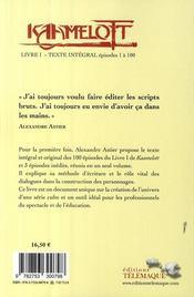Kaamelott ; Intégrale vol.1 ; épisodes 1 à 100 - 4ème de couverture - Format classique