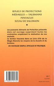 Le livre des protections - 4ème de couverture - Format classique