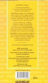 Le Guide Gault-Millau : France 2004 - 4ème de couverture - Format classique